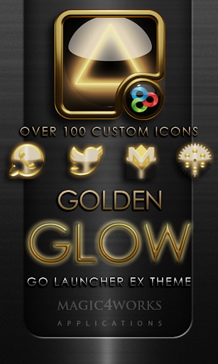 GO Launcher Theme Gold Glow
