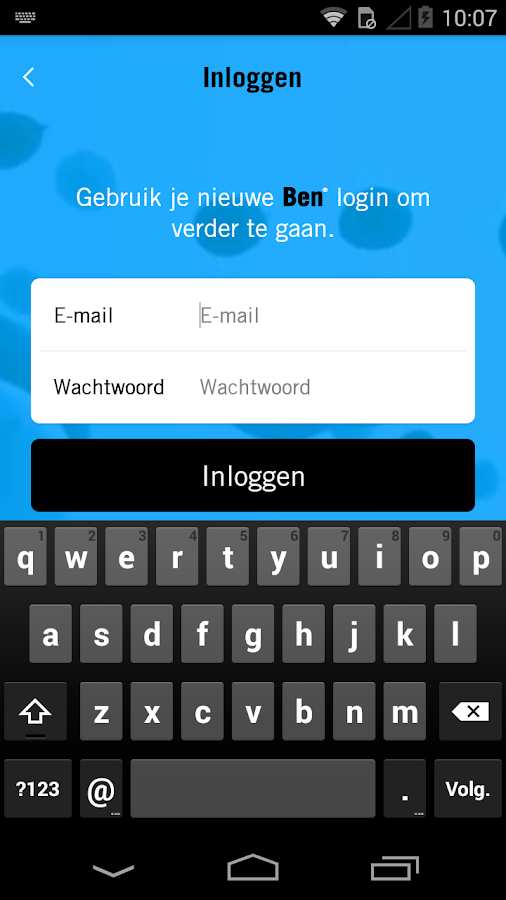Ben App- screenshot