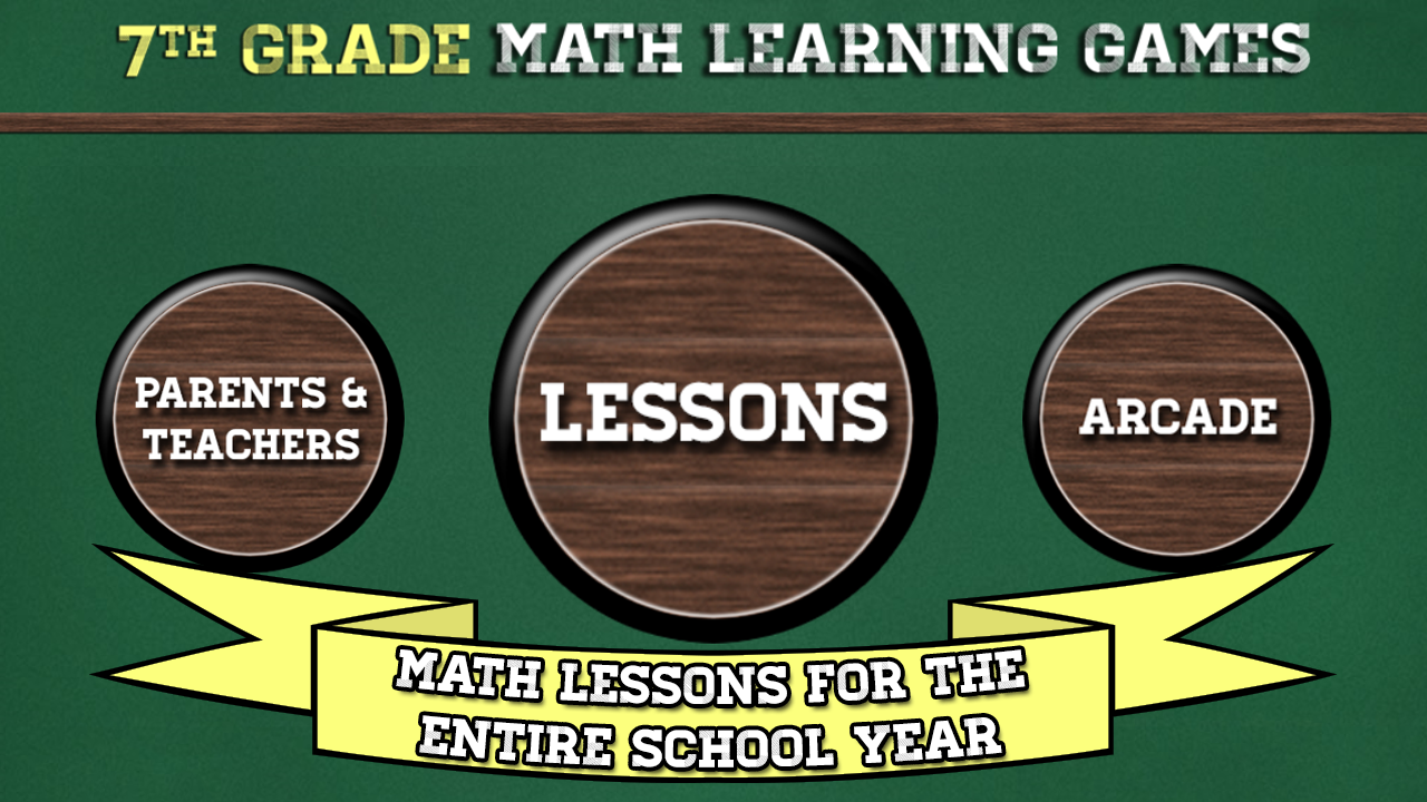 7th Grade Math Learning Games- screenshot