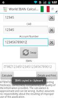 Screenshot of World IBAN Calculator