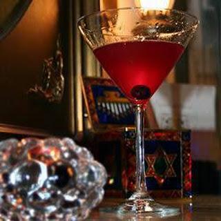 Blueberry Vodka Martini.
