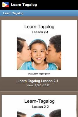 Learn Tagalog - Filipino - screenshot