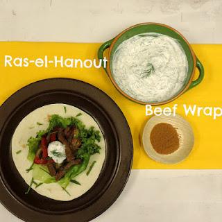 Easy Ras-el-Hanout Beef Wraps!