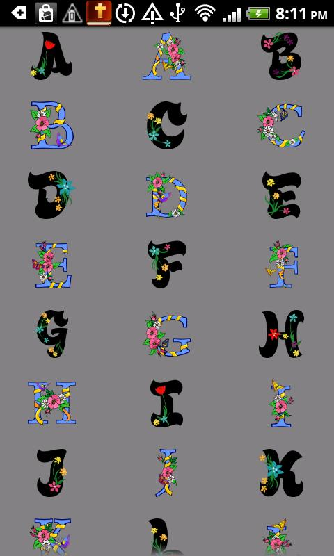 Alphabet stickers doodle text android apps on google play for Medical chart letter stickers