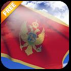 3D Montenegro Flag Live Wallpaper icon
