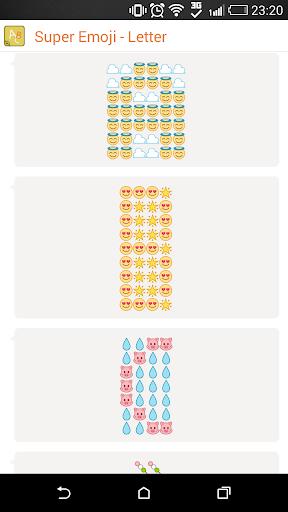 Letter Emoticons - Super Emoji