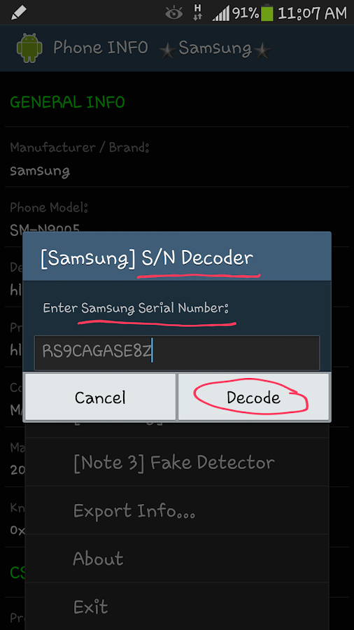 Phone INFO ★Samsung★ - screenshot