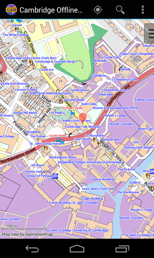 Cambridge Offline City Map- screenshot