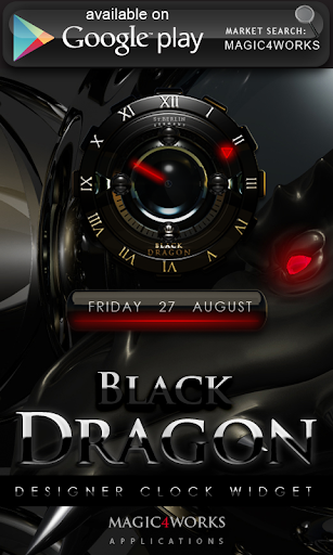 【免費個人化App】Black Dragon 2 digital Clock-APP點子