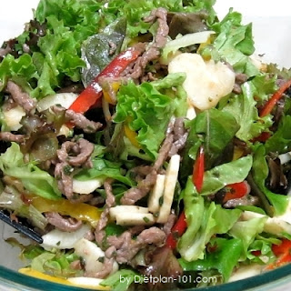 Asian Tamari Sauce Beef Salad (for Atkins Diet Phase 1) Recipe