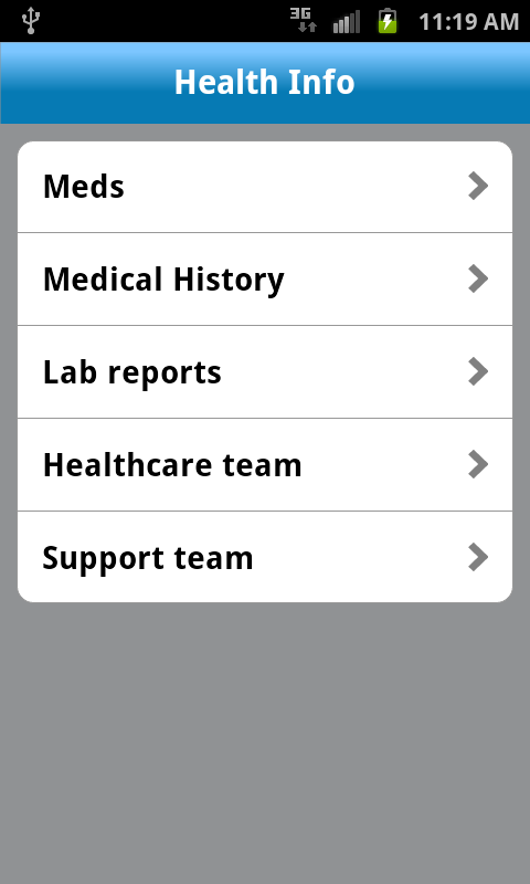 AT&T mHealth- screenshot
