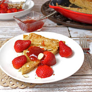Whole Wheat German Pancake with Strawberries.