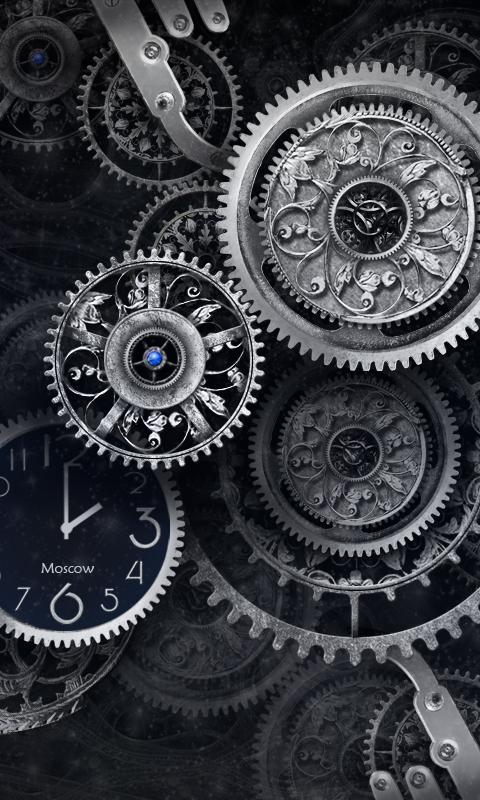 Black Clock Live Wallpaper HD - screenshot