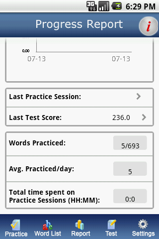 IntelliVocab for SAT,GRE,GMAT - screenshot