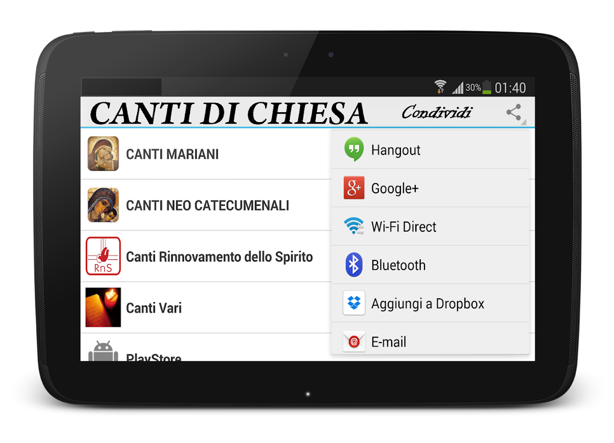 Canti di Chiesa - screenshot
