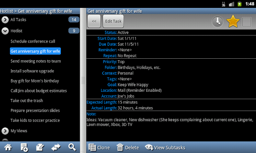 Ultimate To-Do List - Tablet - screenshot thumbnail
