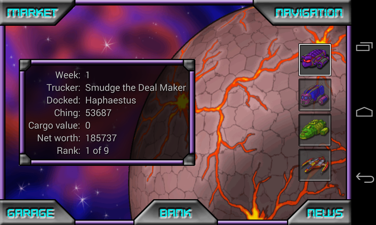 Space Trading Profiteer - screenshot