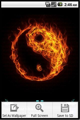 Burning Tai Chi Wallpaper - screenshot