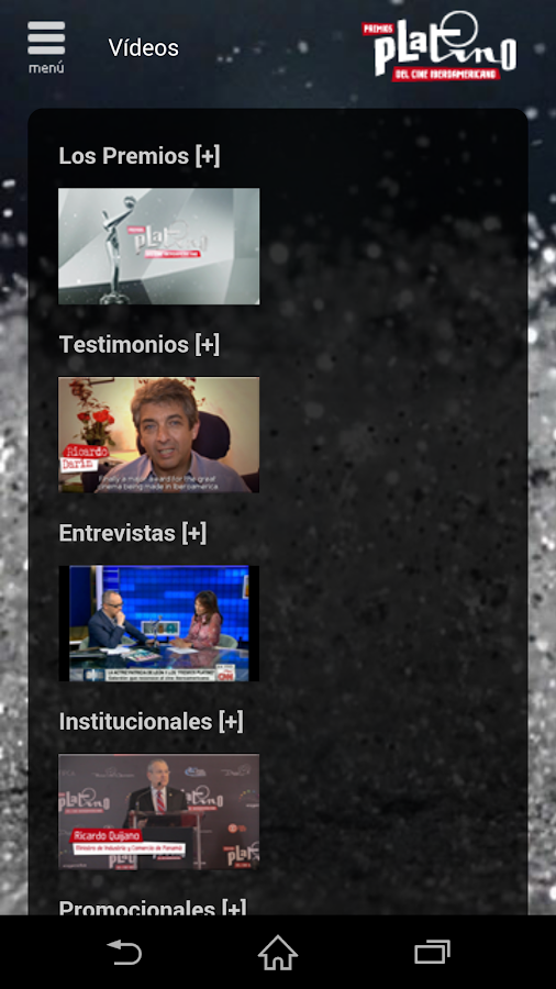 Premios Platino- screenshot