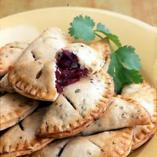 Red Cabbage, Blue Cheese, and Walnut Empañadas