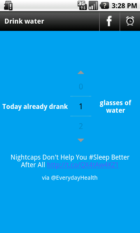 Drink Water Alarm - screenshot