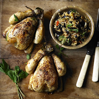 Lebanese Poussin With Spiced Aubergine Pilaf