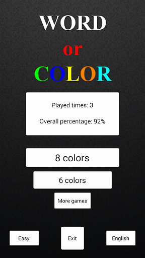 Word or Color