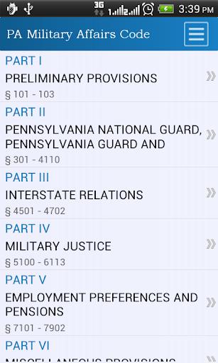 PA Military Affairs Code
