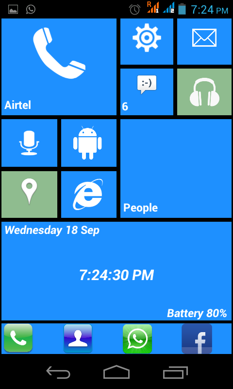 Launcher 8 Windows Theme Free - screenshot