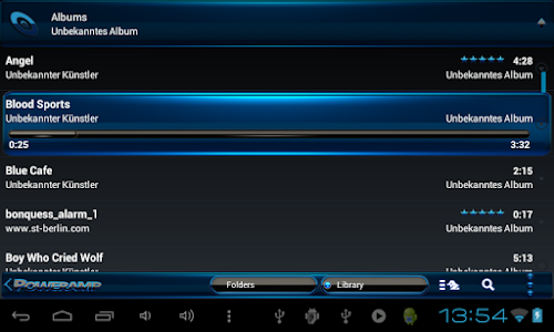 Poweramp skin Black Blue v1.41