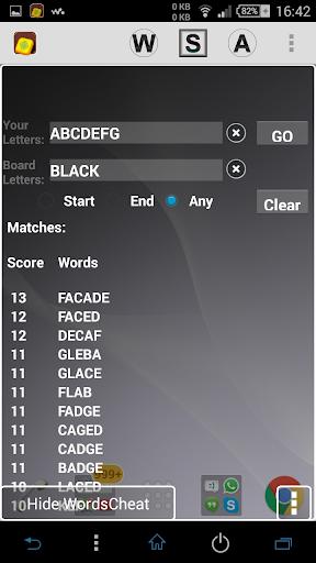 Words Cheat