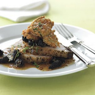 Roasted Pork Loin with Morel Sauce.