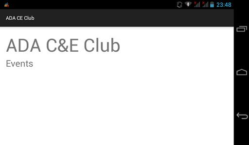 C E Club - Events