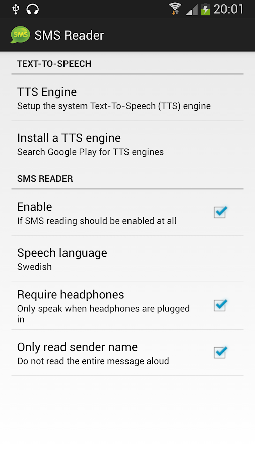 SMS Reader- screenshot