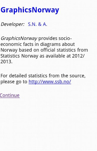 Statistical Graphs for Norway