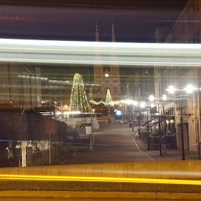Arkaden by Blerim Havolli - Buildings & Architecture Public & Historical ( car, havolli, blerim, night, norge, skien, fast, norway )