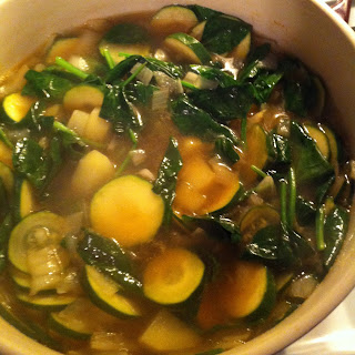 Spinach and Zucchini Soup.