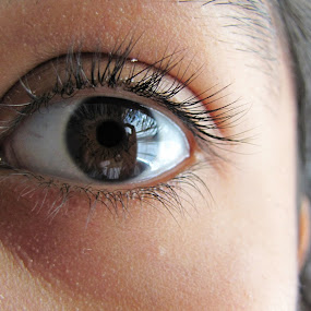 Eye by IS Photography - People Body Parts ( body, face, eyelashes, brown, eye )