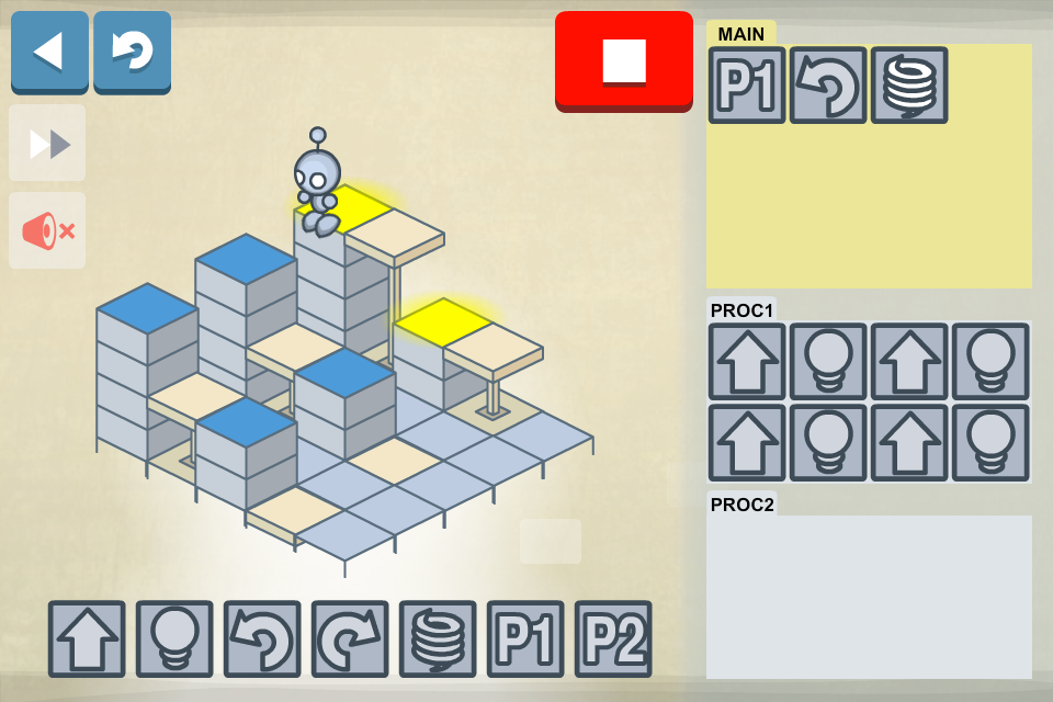 Lightbot - Programming Puzzles - screenshot