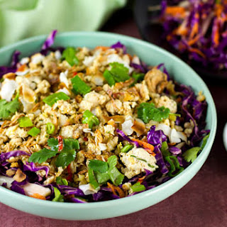 Chicken Larb Salad with Red Cabbage Recipe