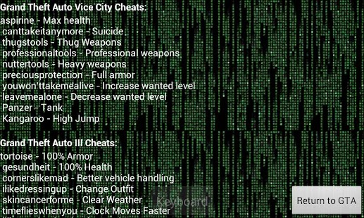 grand theft auto vice city cheat function if you entered