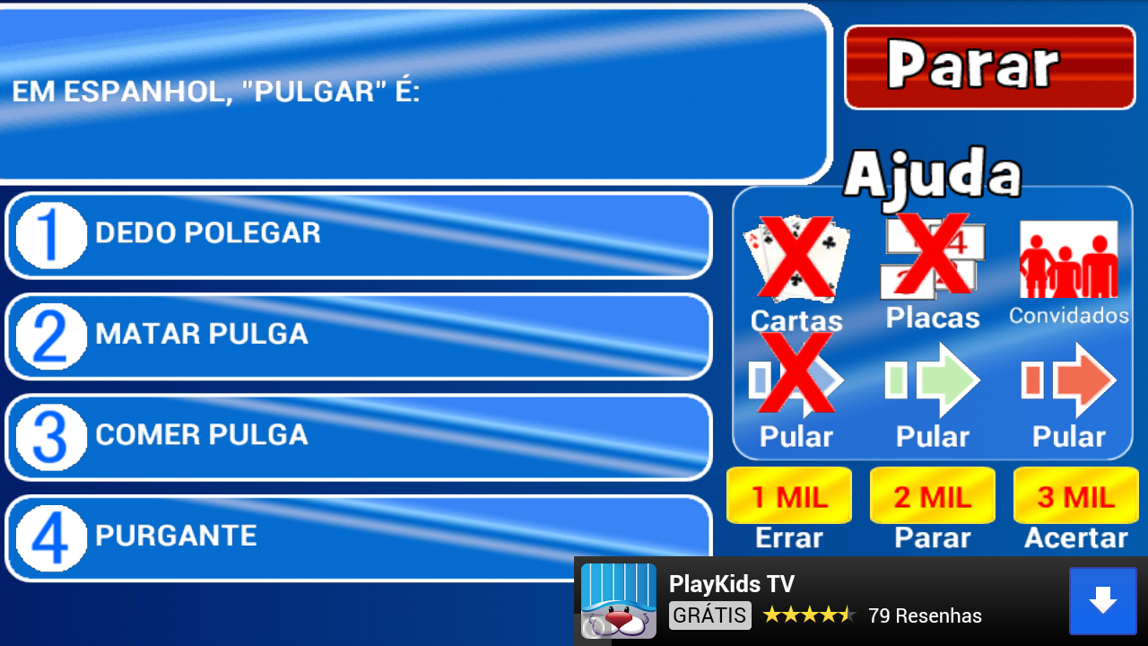 Show do milhão no superdownloads download de jogos, programas.
