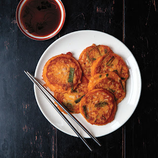 Bindaeduk Cho Kanjang (Korean Mung Bean Pancakes with Dipping Sauce)