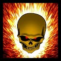 Flaming Skull Live Wallpaper icon