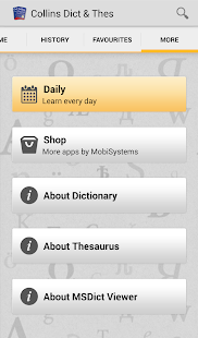 Collins English and Thesaurus - screenshot thumbnail