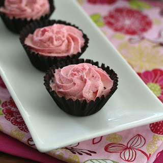 Mini Raspberry Mousse Chocolate Cups.