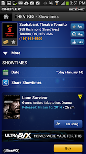 Cineplex Mobile - screenshot thumbnail