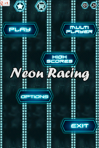 Neon Speed Car Police Racing