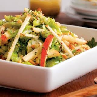 Apple & Celery Salad With Toasted Hazelnuts.