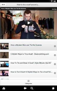 How to tie a scarf with video - screenshot thumbnail
